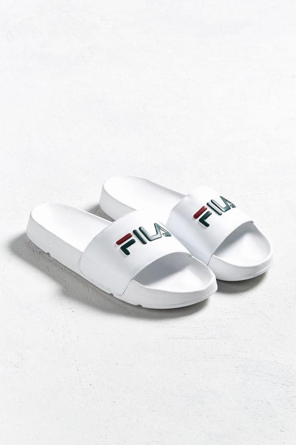 c3beb861530d FILA White Sport Slide Sandal