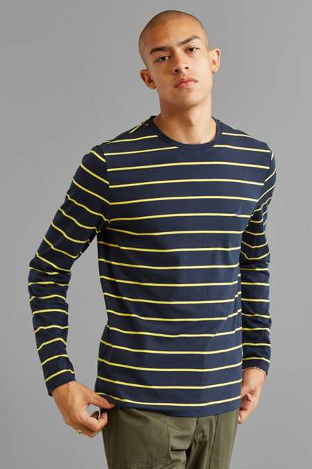 Slide View: 1: Nautica Striped Long Sleeve Tee