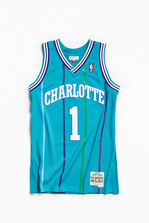 3eb359ec1c0 ... italy mitchell ness charlotte hornets muggsy bogues 92 93 basketball  jersey bd0e2 13447