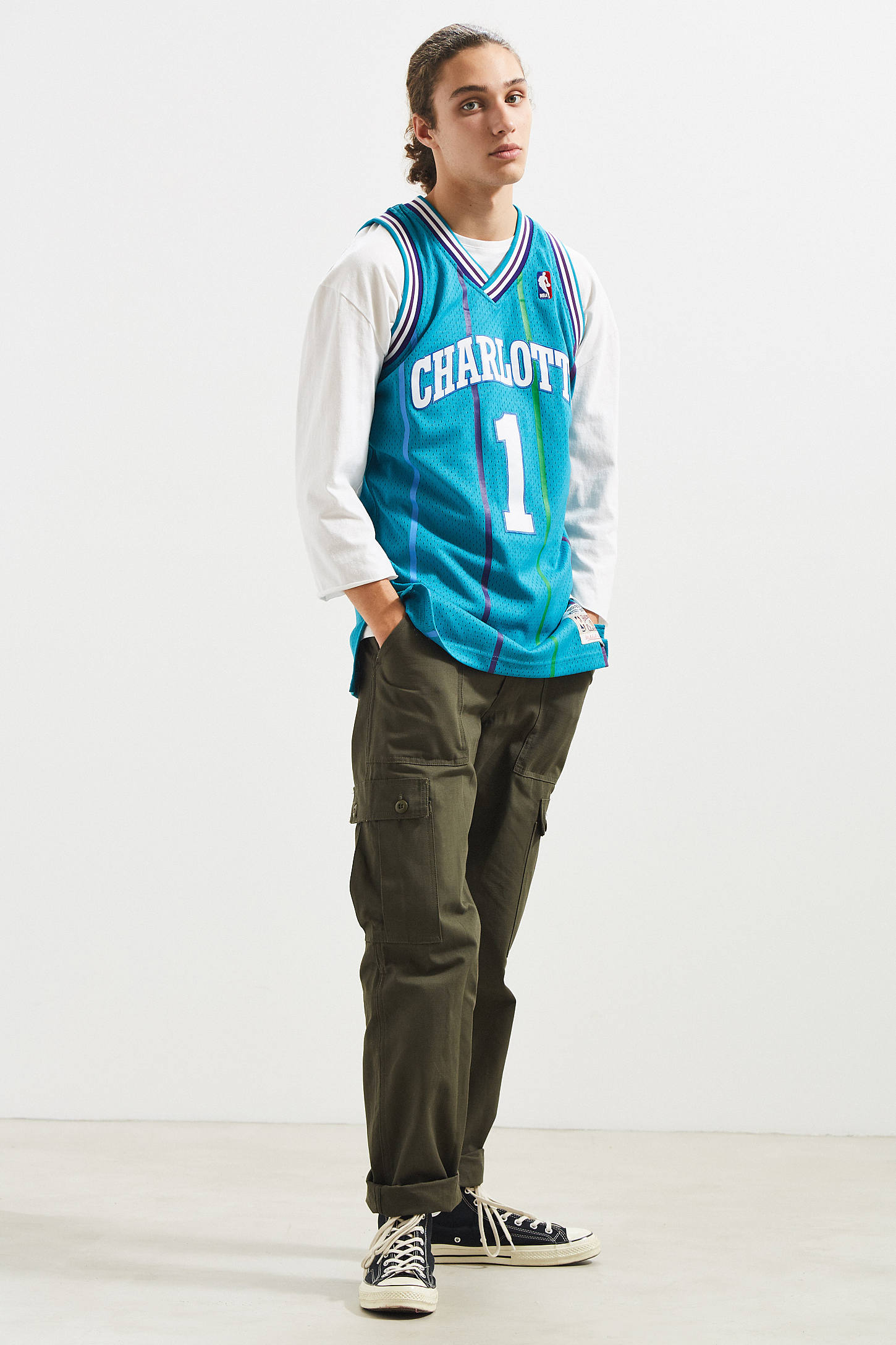 Mitchell & Ness Charlotte Hornets Muggsy Bogues 92 – 93