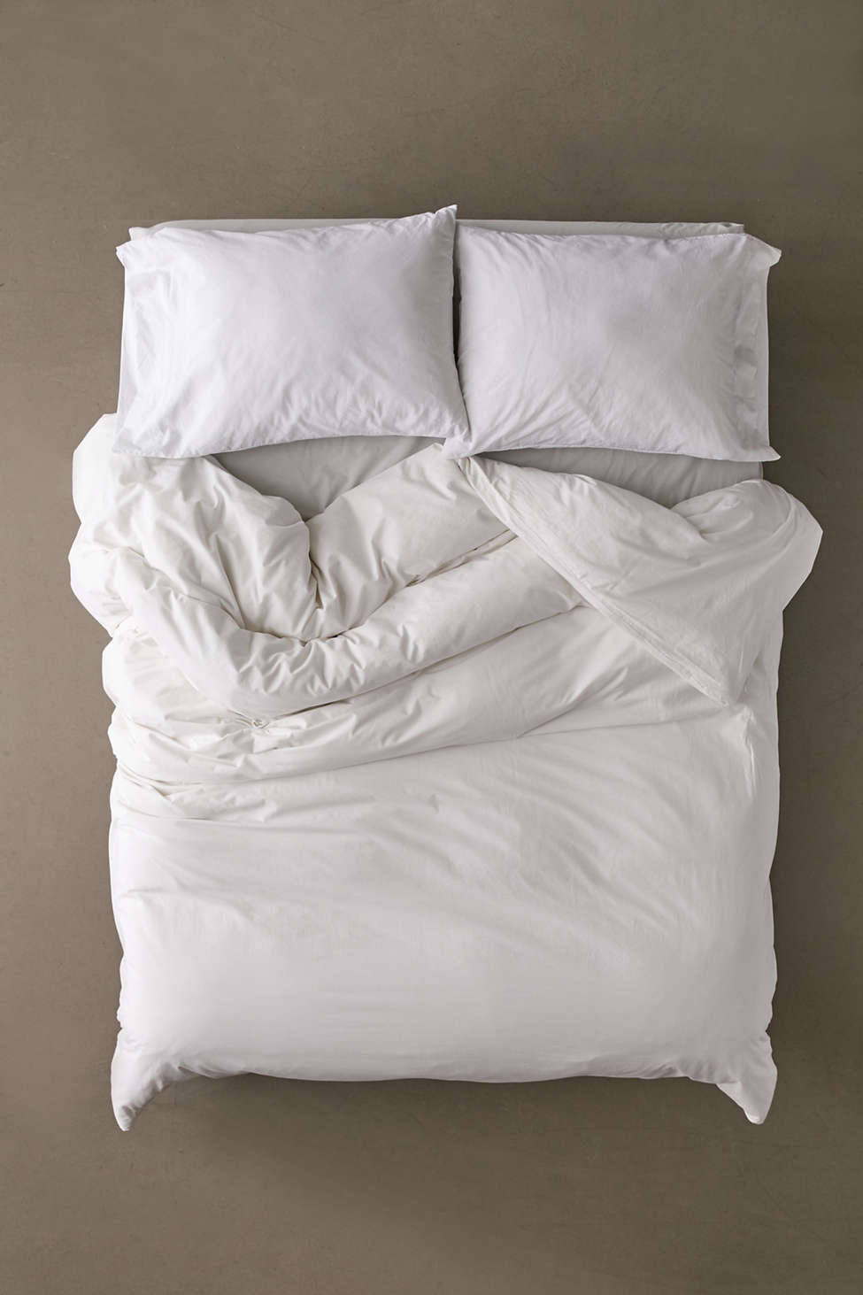 Slide View: 2: Washed Cotton Duvet Cover