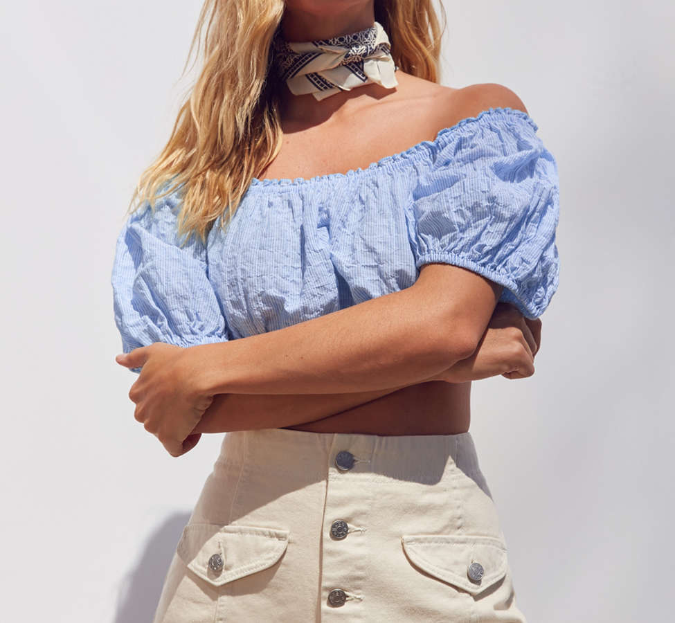 Slide View: 6: Kimchi Blue Bee Bee Off-The-Shoulder Blouse
