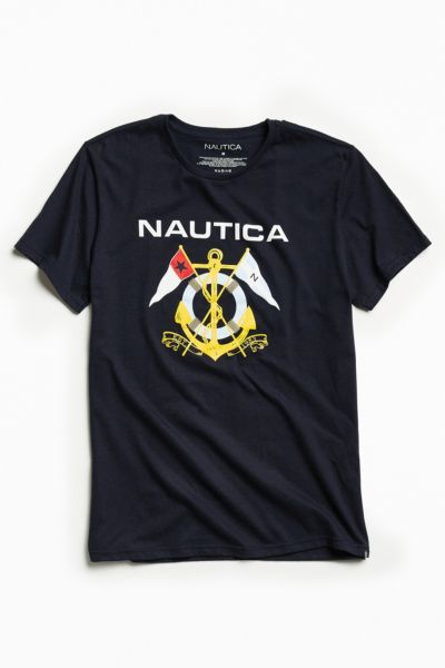 Nautica Anchor Tee - Navy S at Urban Outfitters