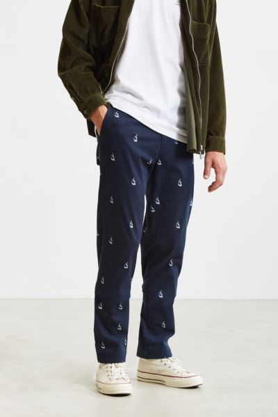 Nautica + UO Printed Chino Pant - Navy 30W 32L at Urban Outfitters