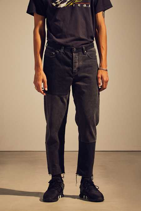 Barney Cools Washed Black Relaxed Cropped Jean