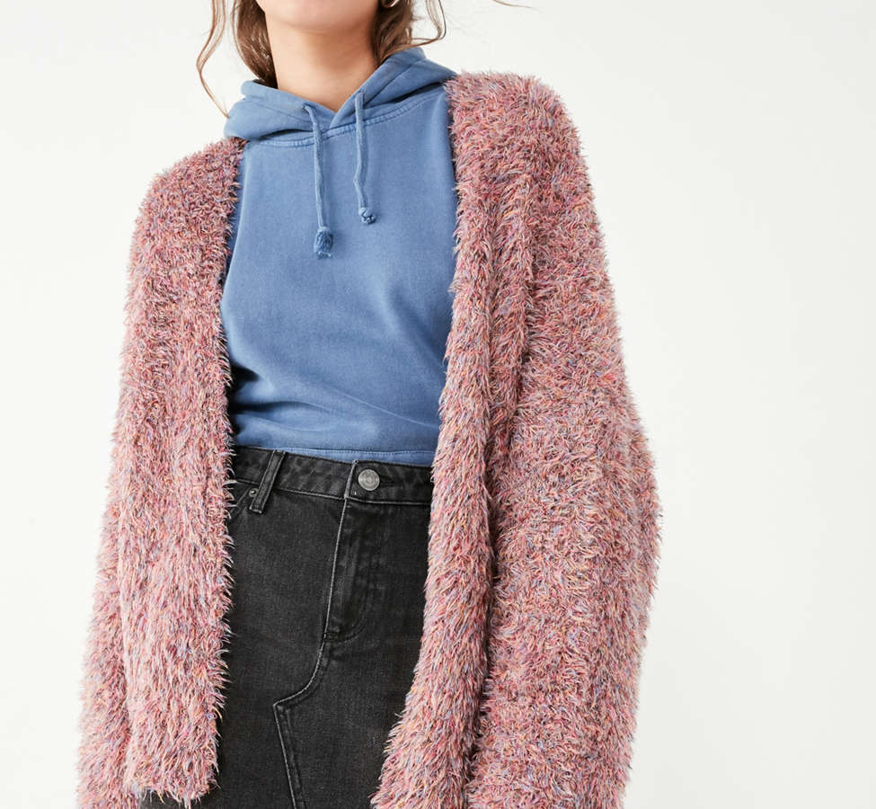 Slide View: 2: Pins And Needles Fluffy Oversized Cardigan