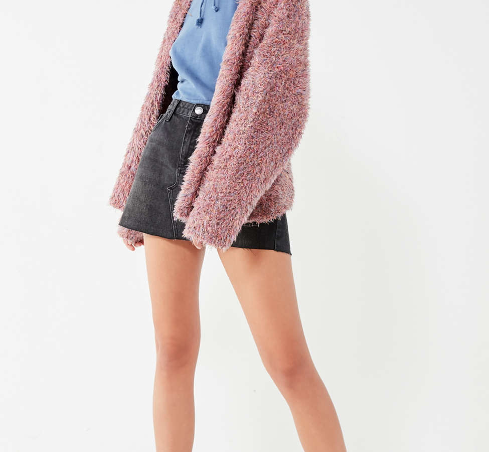 Slide View: 4: Pins And Needles Fluffy Oversized Cardigan