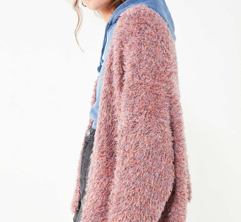 Slide View: 5: Pins And Needles Fluffy Oversized Cardigan