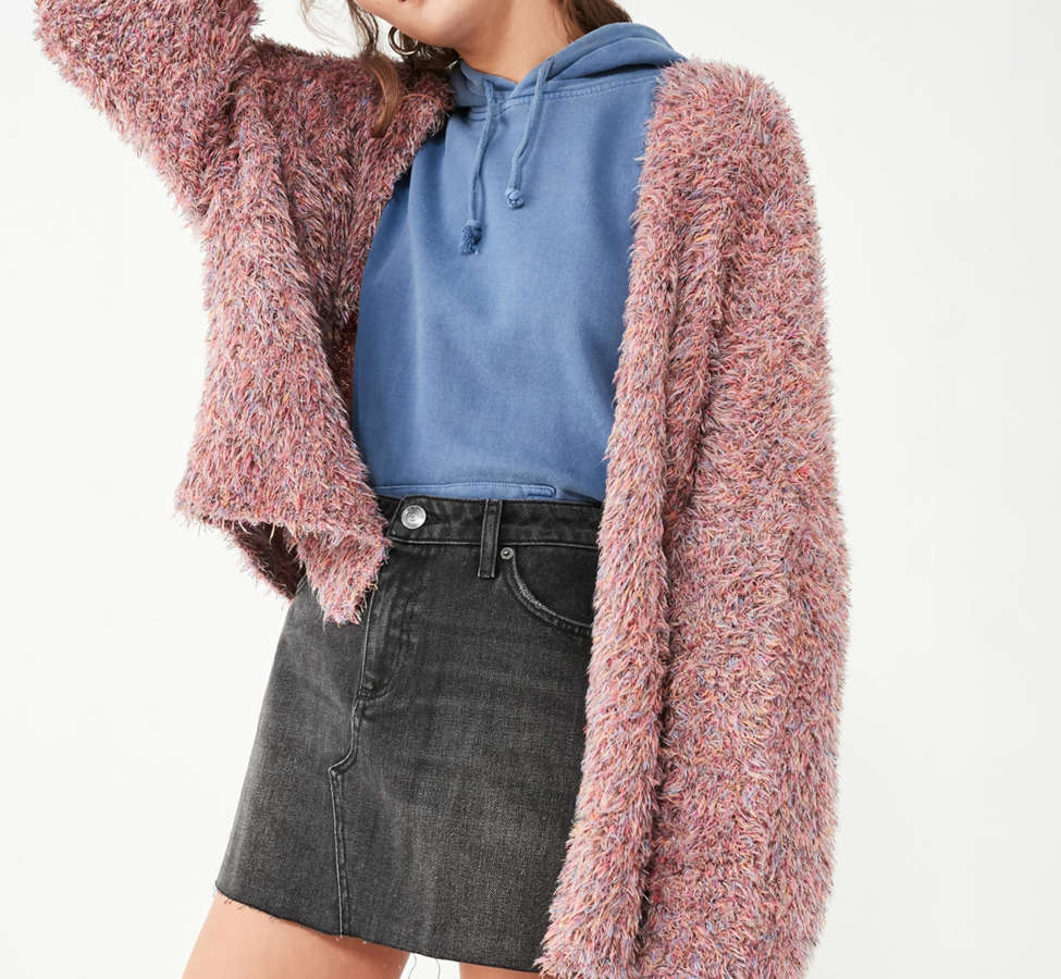 Slide View: 6: Pins And Needles Fluffy Oversized Cardigan