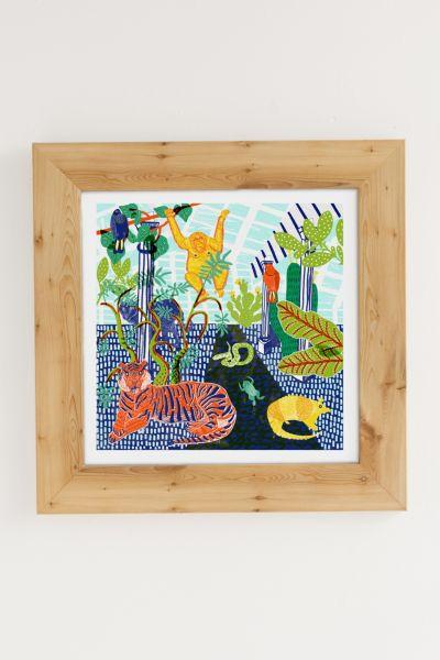 Camilla Perkins Jungle Art Print - Light Brown 16