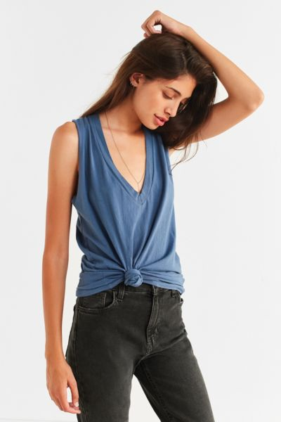 Truly Madly Deeply Knot Front Tank Top