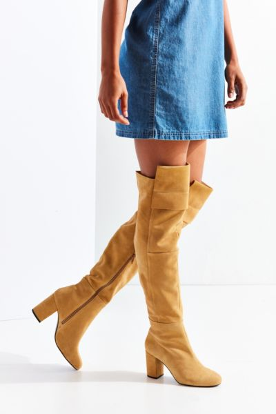 Kylie Suede Knee-High Boot