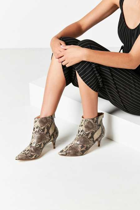 Snakeskin Kitten Heel Ankle Boot