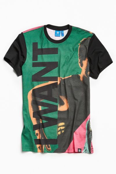 adidas Collective Memory Want Tee - Green S at Urban Outfitters