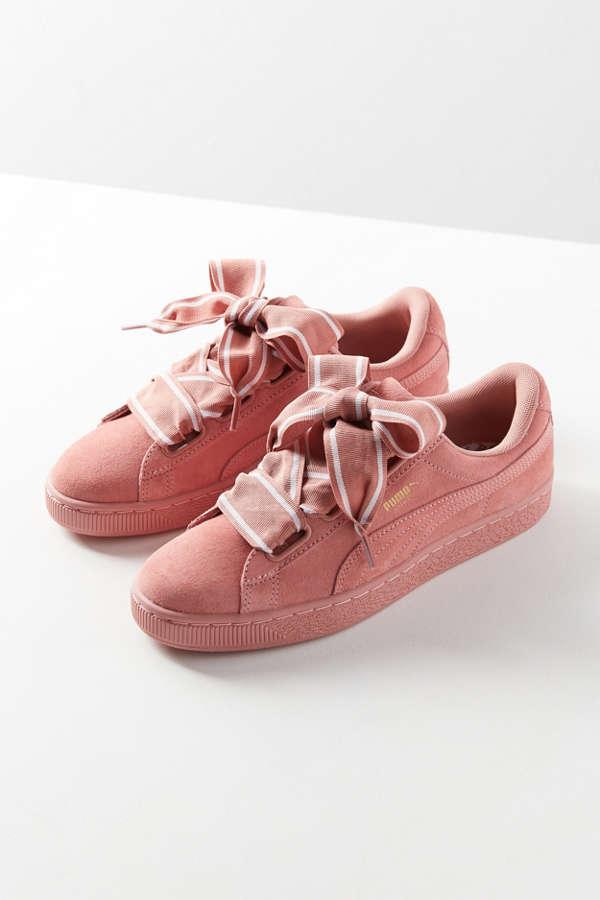 Slide View: 1: Puma Suede Heart Satin II Sneaker
