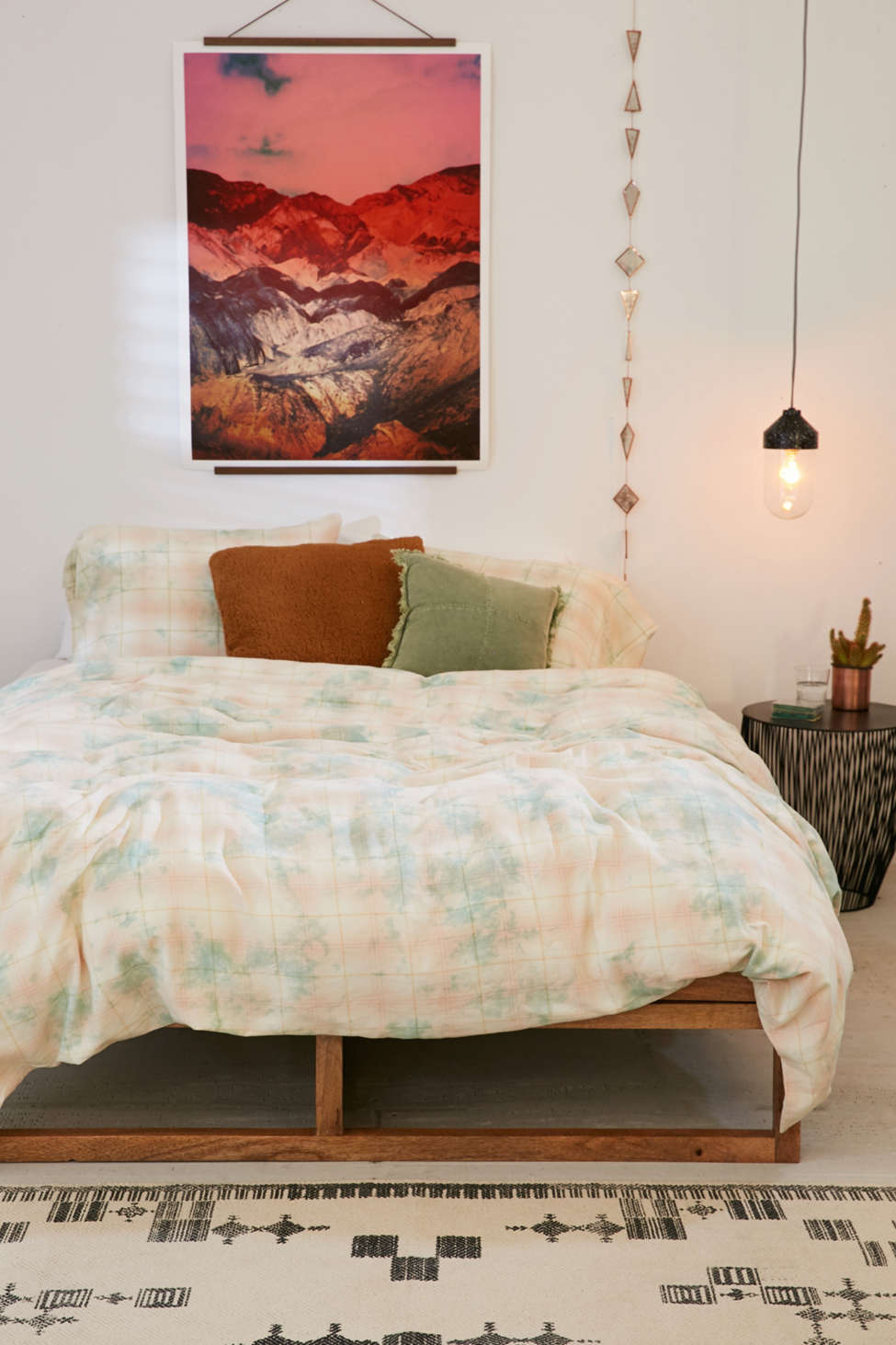 Slide View: 1: Overdyed Flannel Duvet Cover