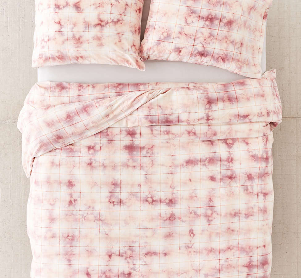 Slide View: 2: Overdyed Flannel Duvet Cover