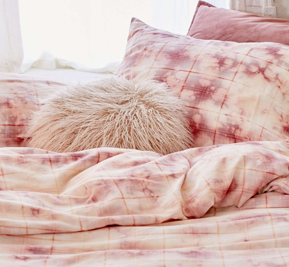 Slide View: 3: Overdyed Flannel Duvet Cover