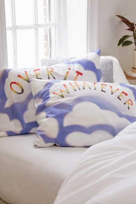 Over It/Whatever Pillowcase Set