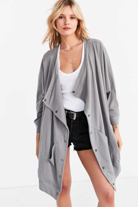 Silence + Noise Oversized Button-Down Cocoon Cardigan