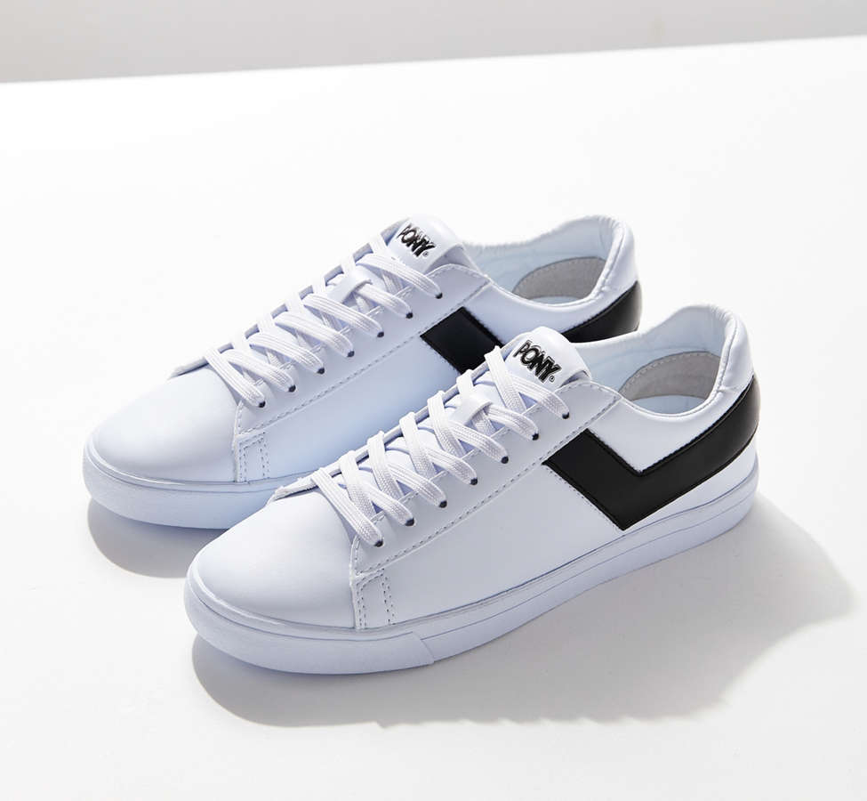 Slide View: 2: Pony Topstar Low Faux Leather Sneaker