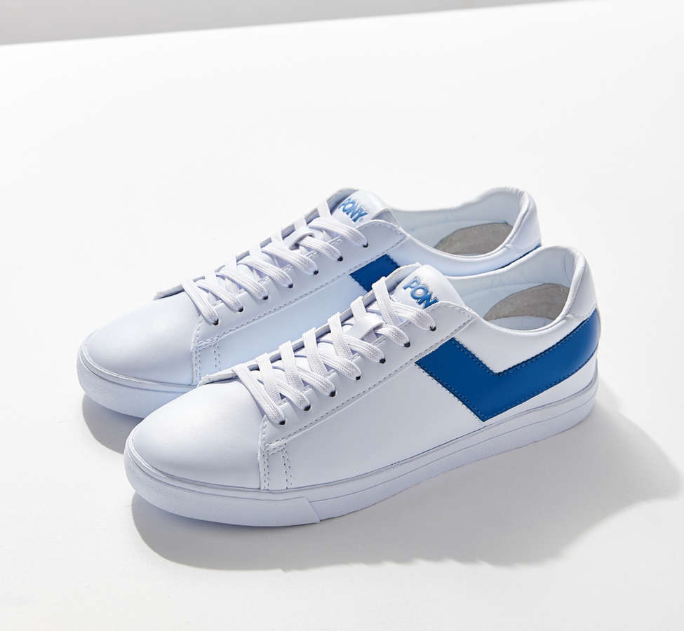 Slide View: 1: Pony Topstar Low Faux Leather Sneaker