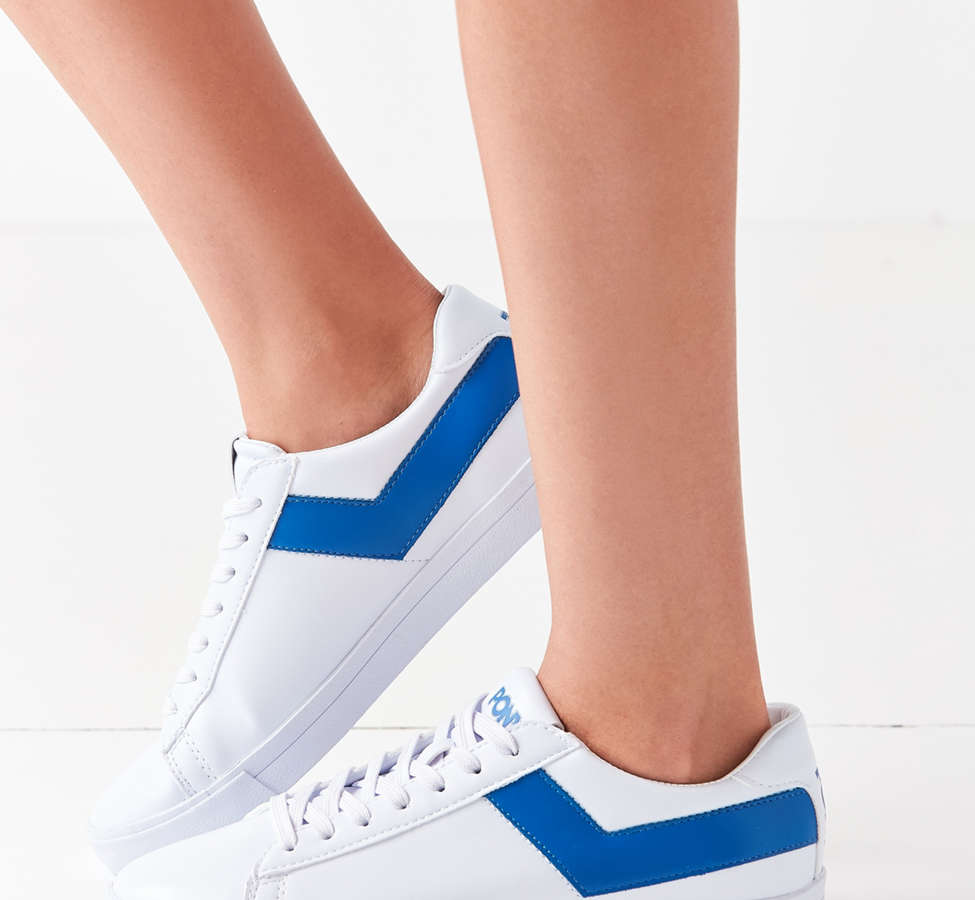 Slide View: 3: Pony Topstar Low Faux Leather Sneaker
