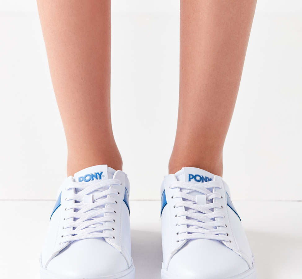 Slide View: 4: Pony Topstar Low Faux Leather Sneaker