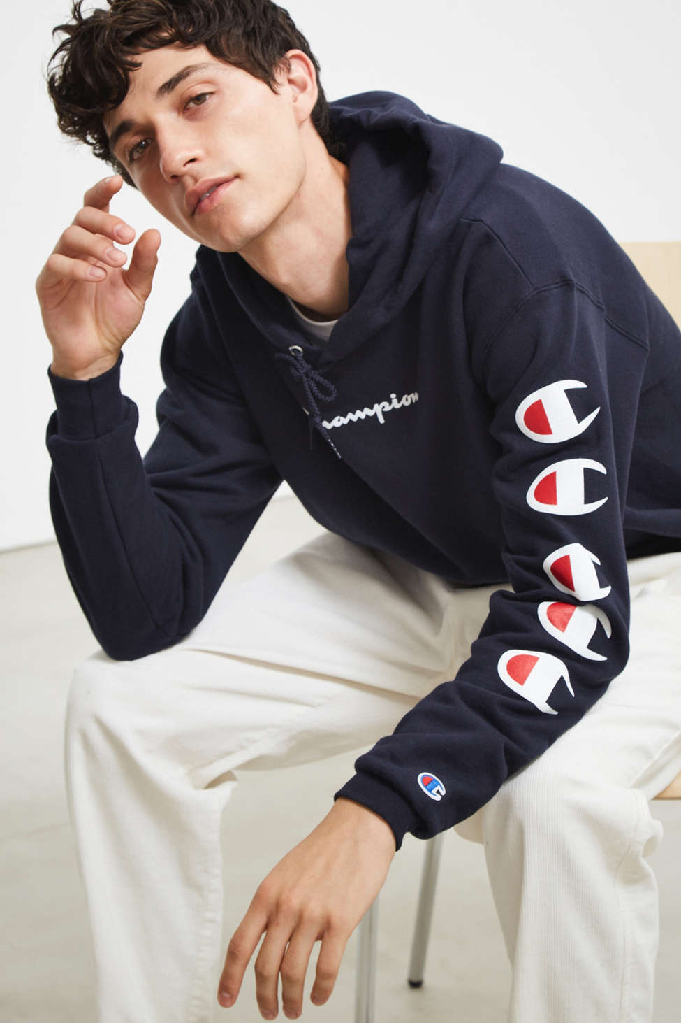 Champion Repeat Eco Hoodie Sweatshirt Urban Outfitters