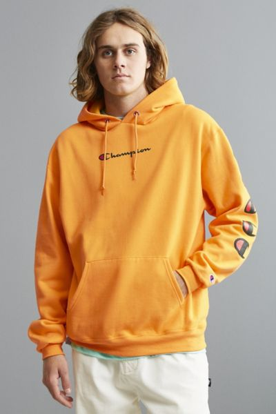 Champion Repeat Eco Hoodie Sweatshirt - Gold XXL at Urban Outfitters