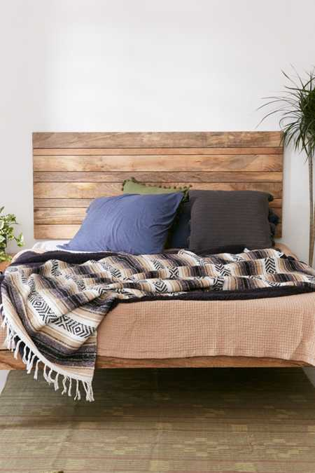 Slatted Wooden Headboard