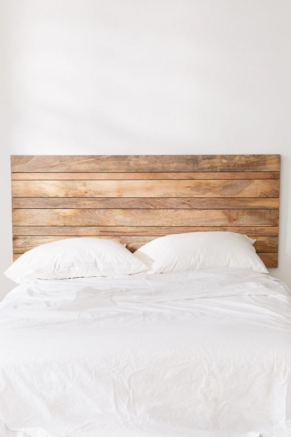 Slatted Wooden Headboard Urban Outfitters