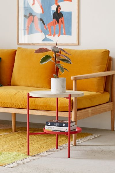 Dorset Tiered Side Table - Pink One Size at Urban Outfitters
