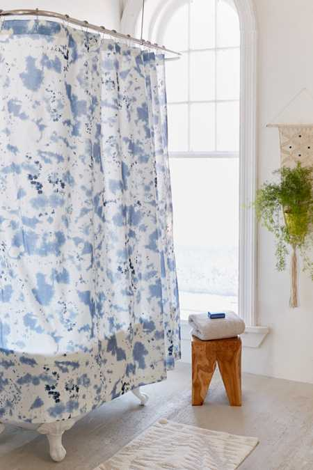 Kishi Shibori Dye Shower Curtain