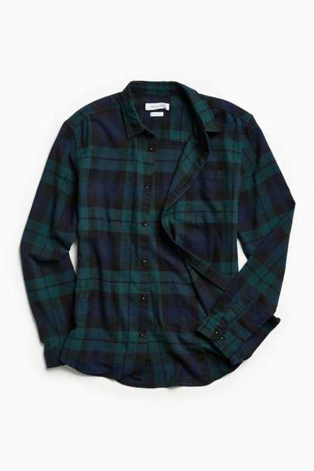 UO Plaid Flannel Button-Down Shirt