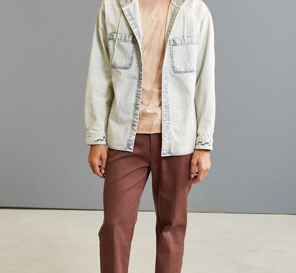 Slide View: 6: UO Hooded Denim Button-Down Shirt