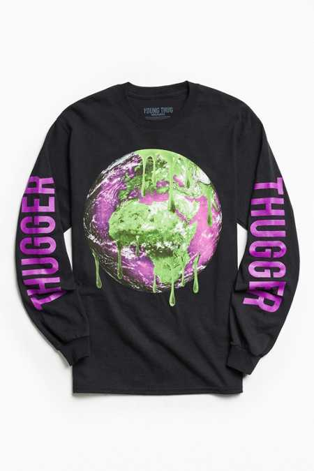 Young Thug Slime Globe Long Sleeve Tee