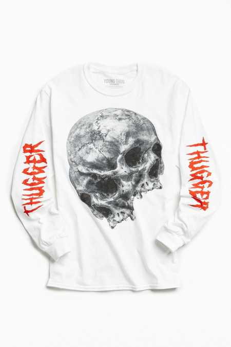 Young Thug Dual Skulls Long Sleeve Tee