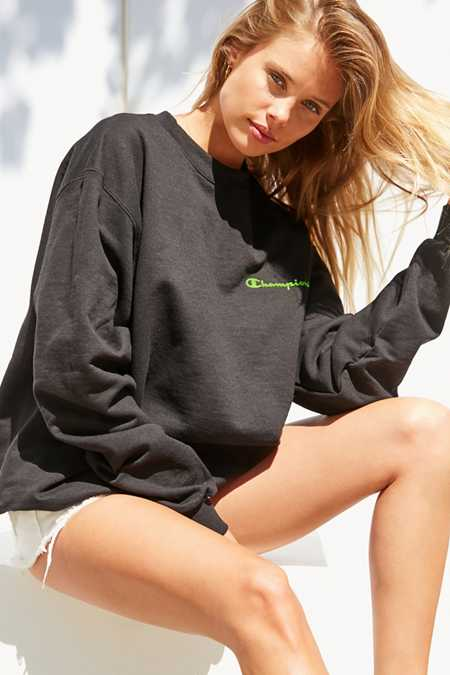 Champion + UO Neon Crew-Neck Sweatshirt