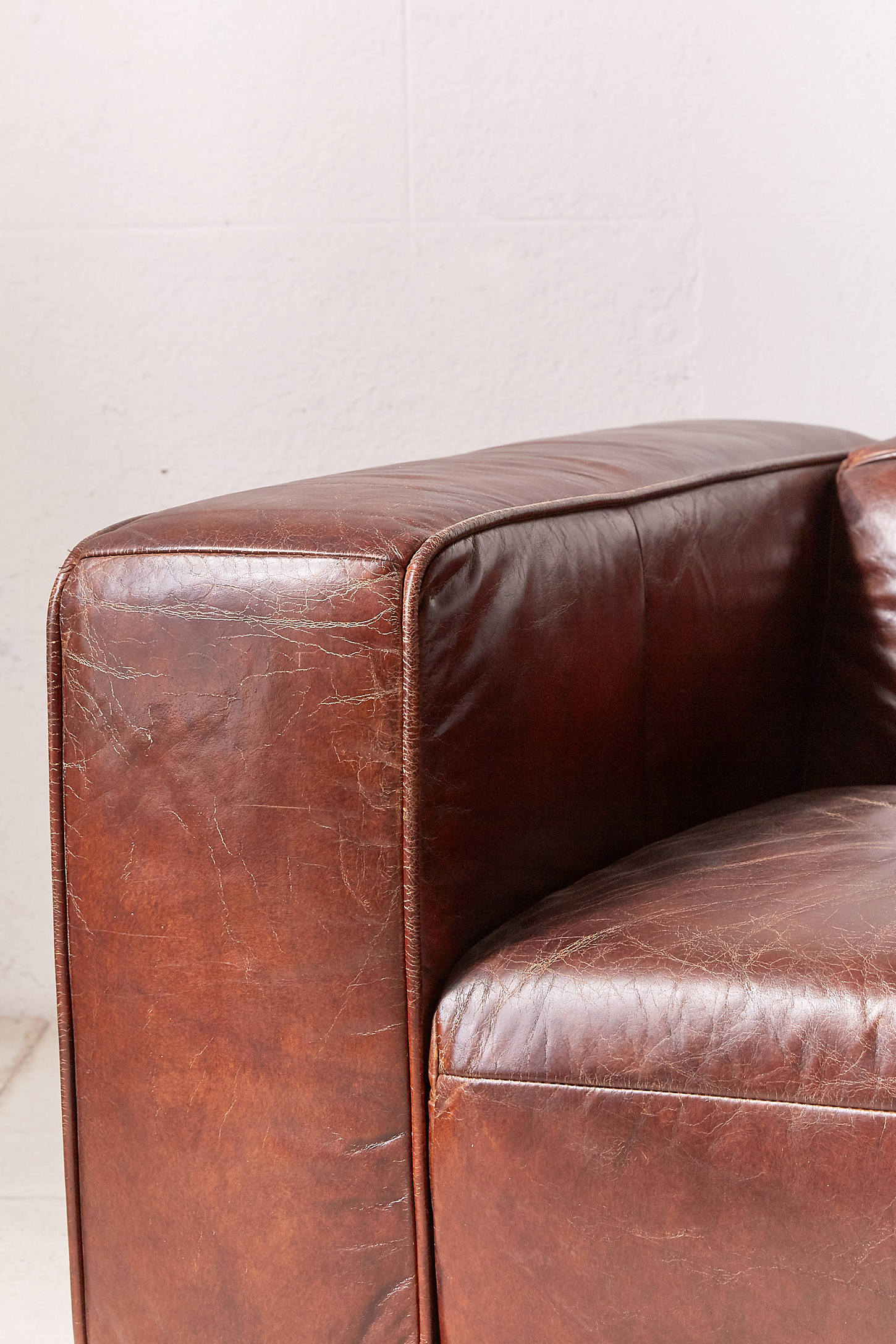 Baker Leather Sofa