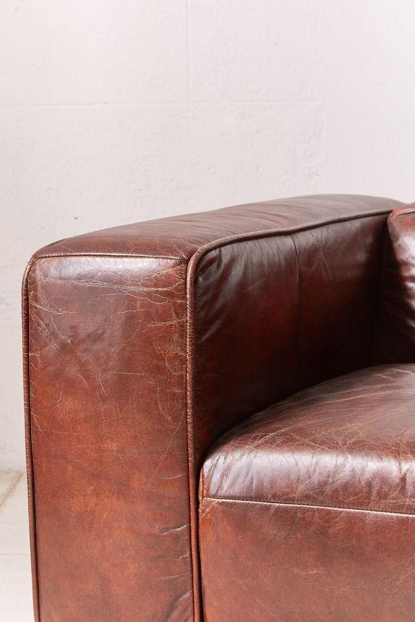 Slide View 6 Baker Leather Sofa