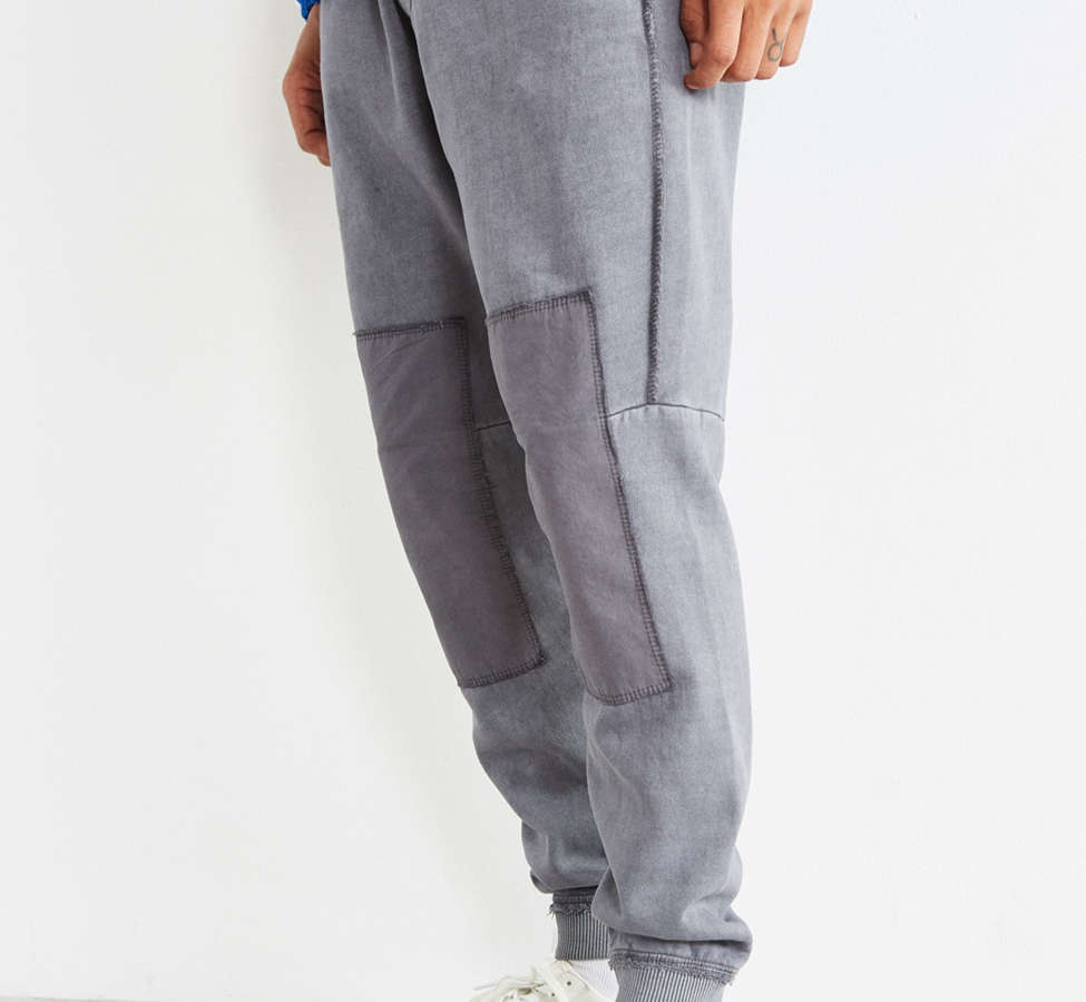 Slide View: 1: UO Clark Patched Fleece Jogger Pant
