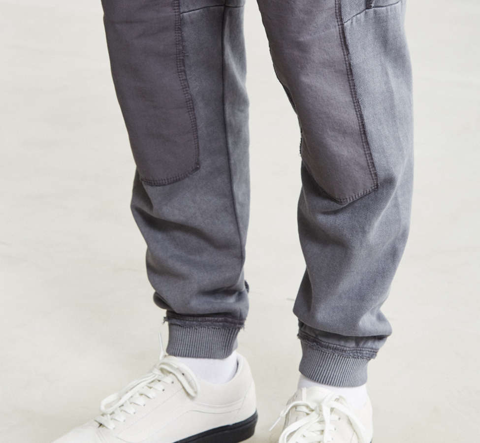 Slide View: 2: UO Clark Patched Fleece Jogger Pant