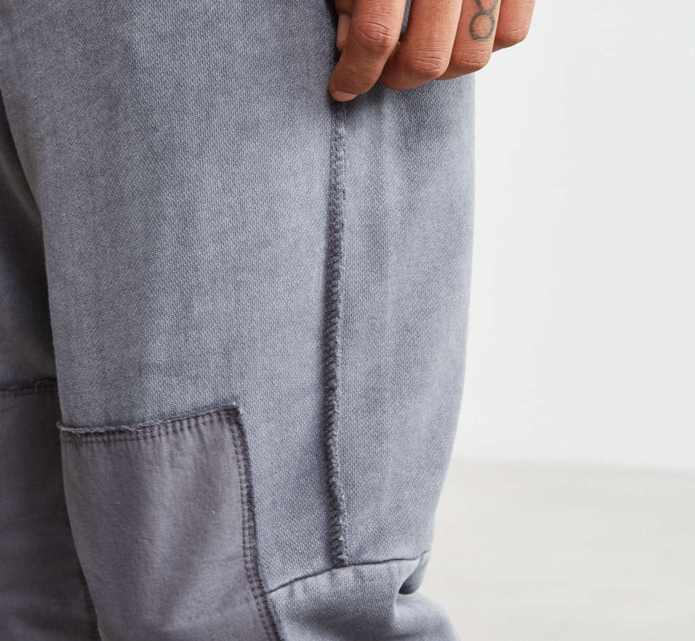 Slide View: 5: UO Clark Patched Fleece Jogger Pant