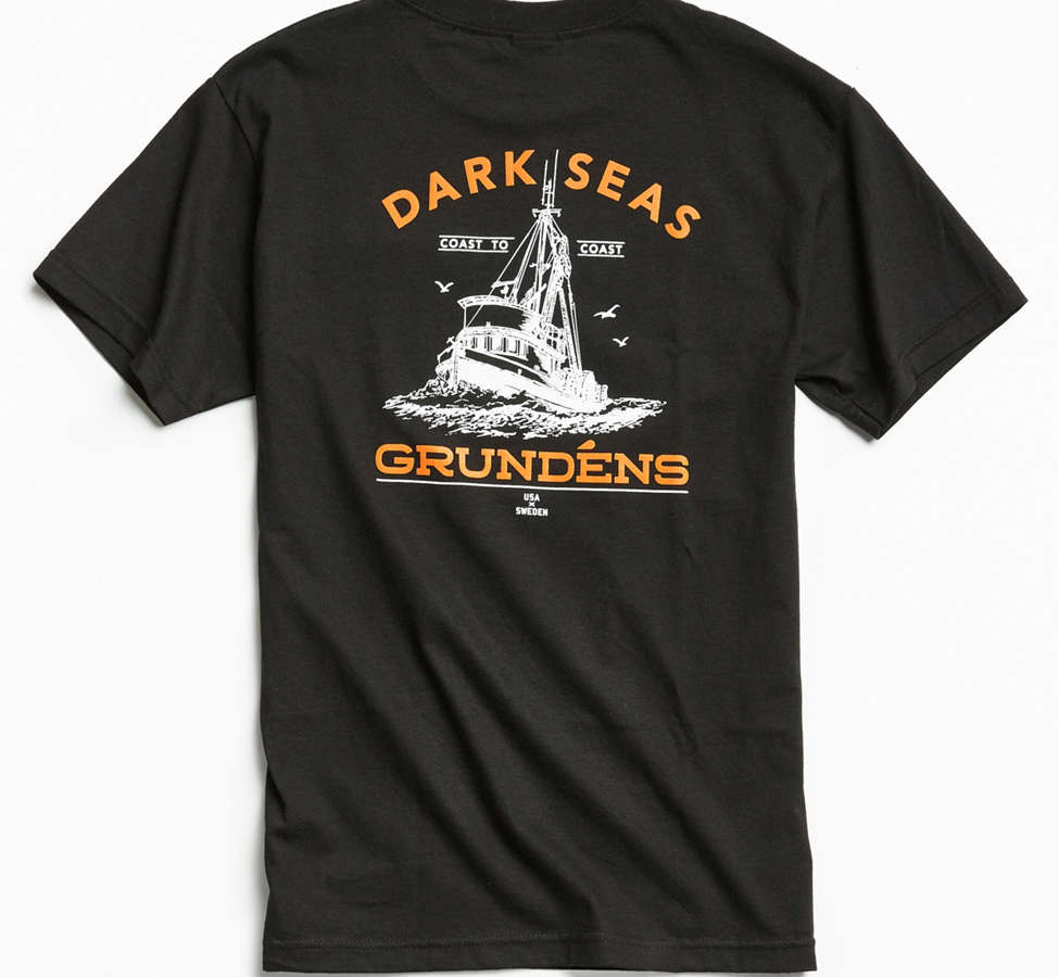 Slide View: 1: Dark Seas X Grundens Tuna Tower Pocket Tee