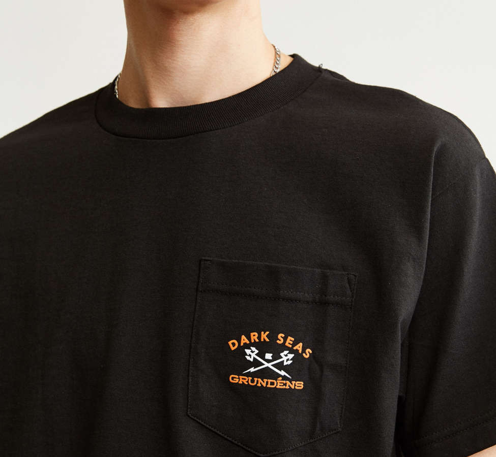Slide View: 3: Dark Seas X Grundens Tuna Tower Pocket Tee