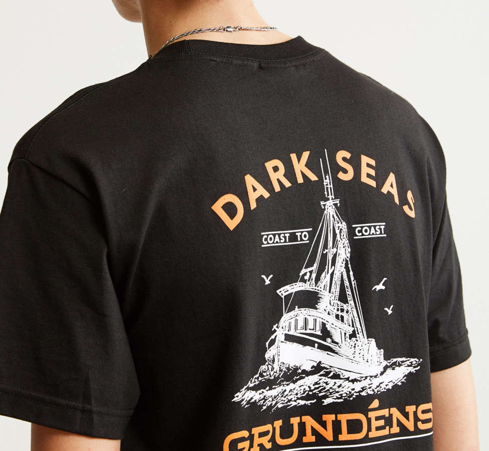 Slide View: 5: Dark Seas X Grundens Tuna Tower Pocket Tee