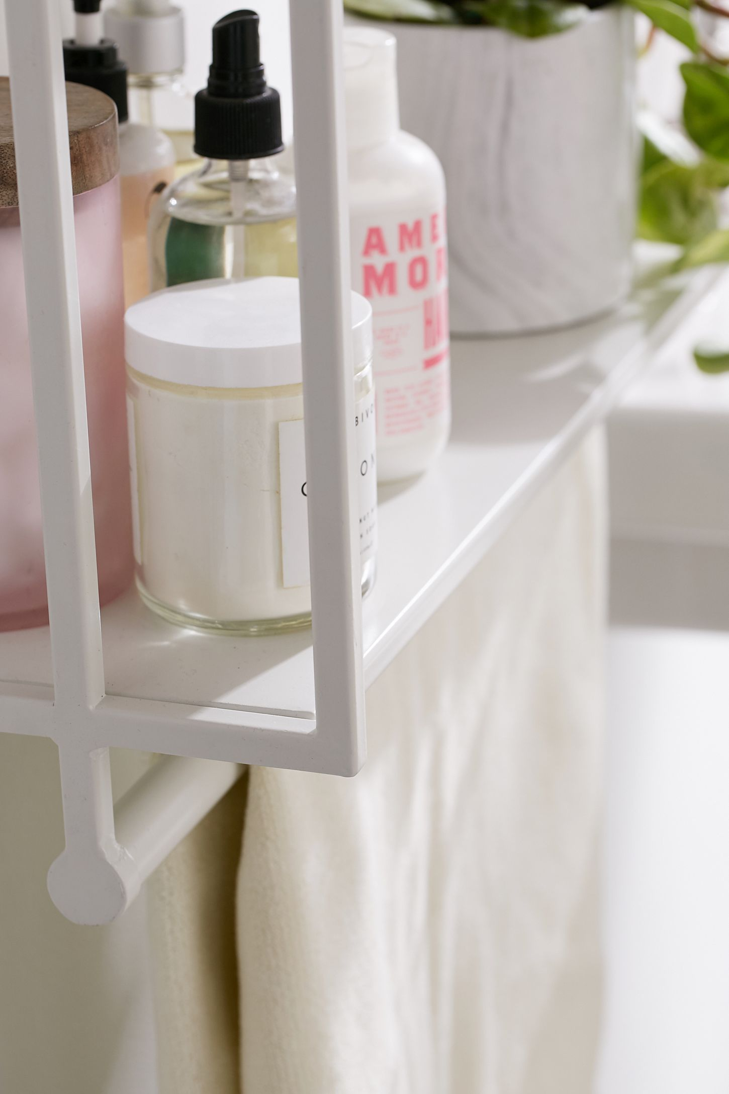 with and toiletries four this shelf towels l your shelfstore bath tiered teak style ladder bathroom