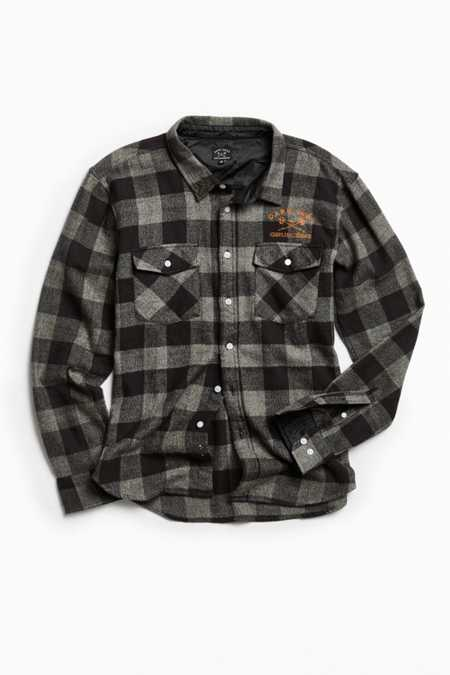 Dark Seas X Grundens Flannel Button-Down Shirt