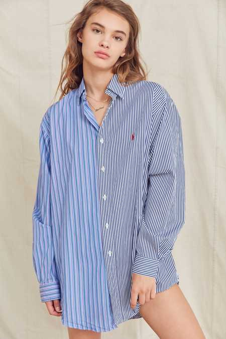 Urban Renewal Recycled Spliced Button-Down Shirt